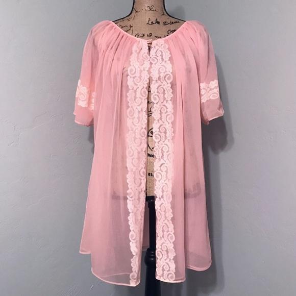 Peach Nightgown Jan 6 Vintage Nightgown Vintage 1960s Nightgown 1960s Nightgown Embroidered Peach Nightgown
